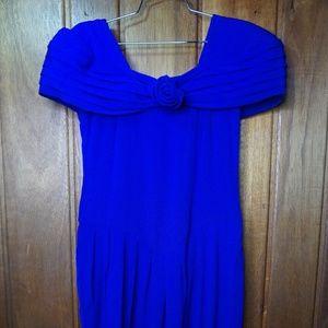 Steven Stoller NY Dresses - Steven Stoller NY Front Tie Ribbon Women's Blue